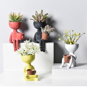 Character Portrait Flower Pot