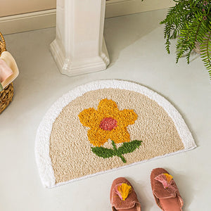 Floral Bath Mat Anti Slip