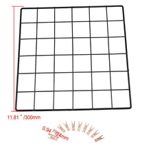 Load image into Gallery viewer, Metal Wire Wall Grid Memo Board + 10pcs Wooden Clips