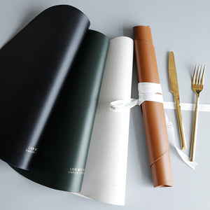 Modern Dining Table Placemat PU Leather