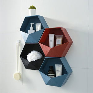 Nordic Hexagon Wall Storage Rack Organiser