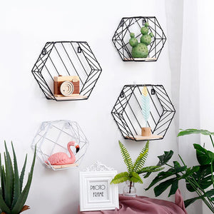 Hexagon Wall Storage Shelves