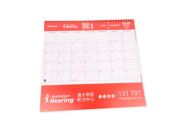 Wall Calendars Wire Bound