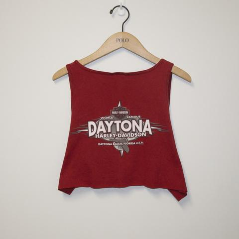 Daytona Red Harley Crop