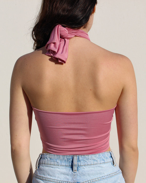 Dusty Pink Wrap Top