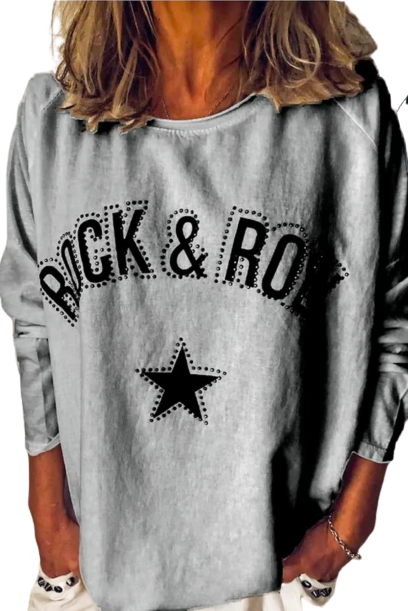 Rock & Roll Studded Sweatshirt