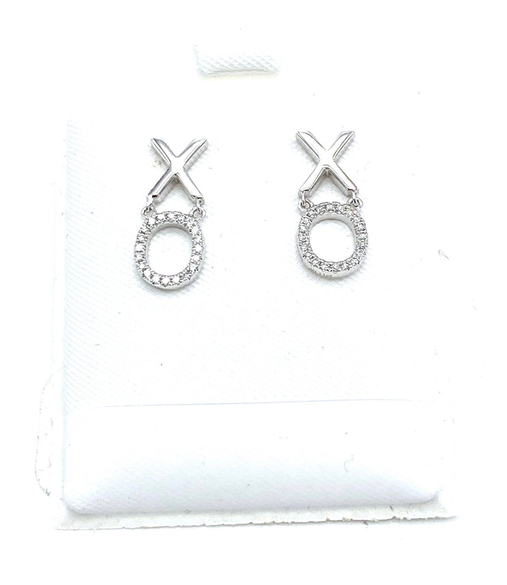 XO Diamond Earrings - RainTree Boutique