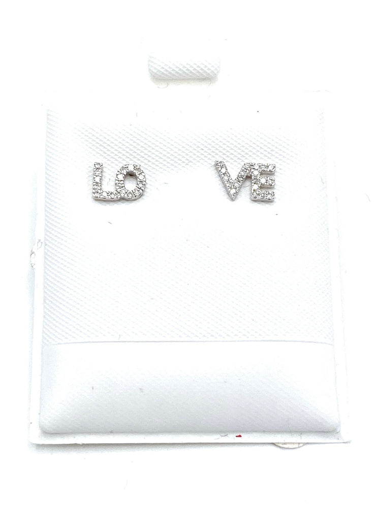 LOVE Diamond Stud Earrings - RainTree Boutique