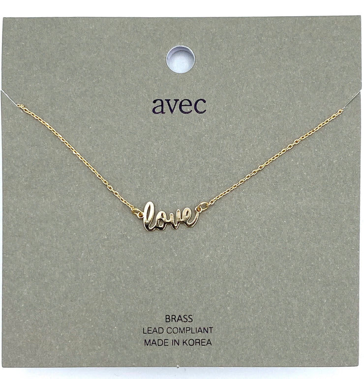 Scripted Love Necklace - RainTree Boutique