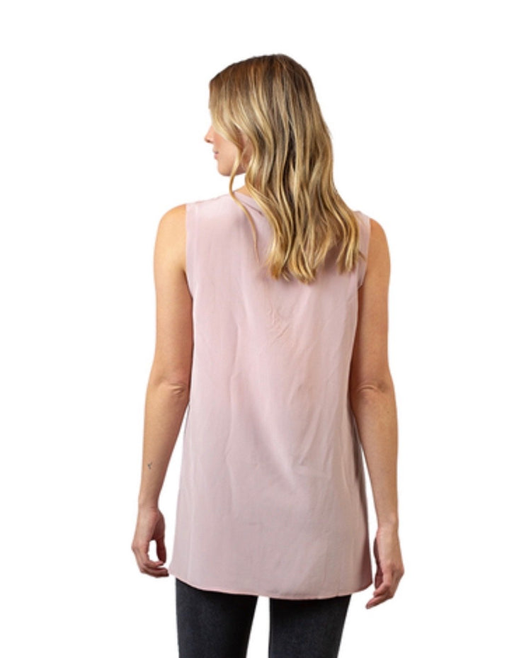 Zoe Raw Edge Tank - RainTree Boutique