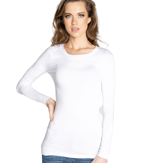 Florence Crew Neck Long Sleeve Tee - RainTree Boutique