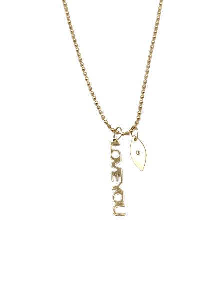 "Liza ""Love You"" Necklace - RainTree Boutique"