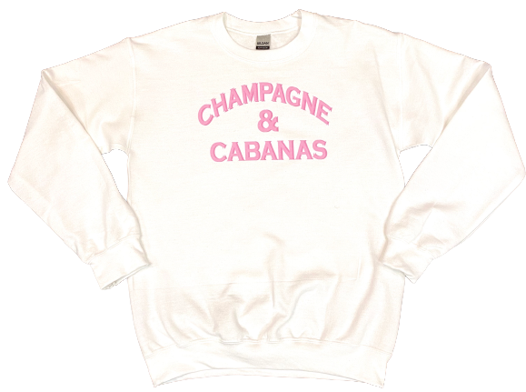 Champagne and Cabanas Sweatshirt