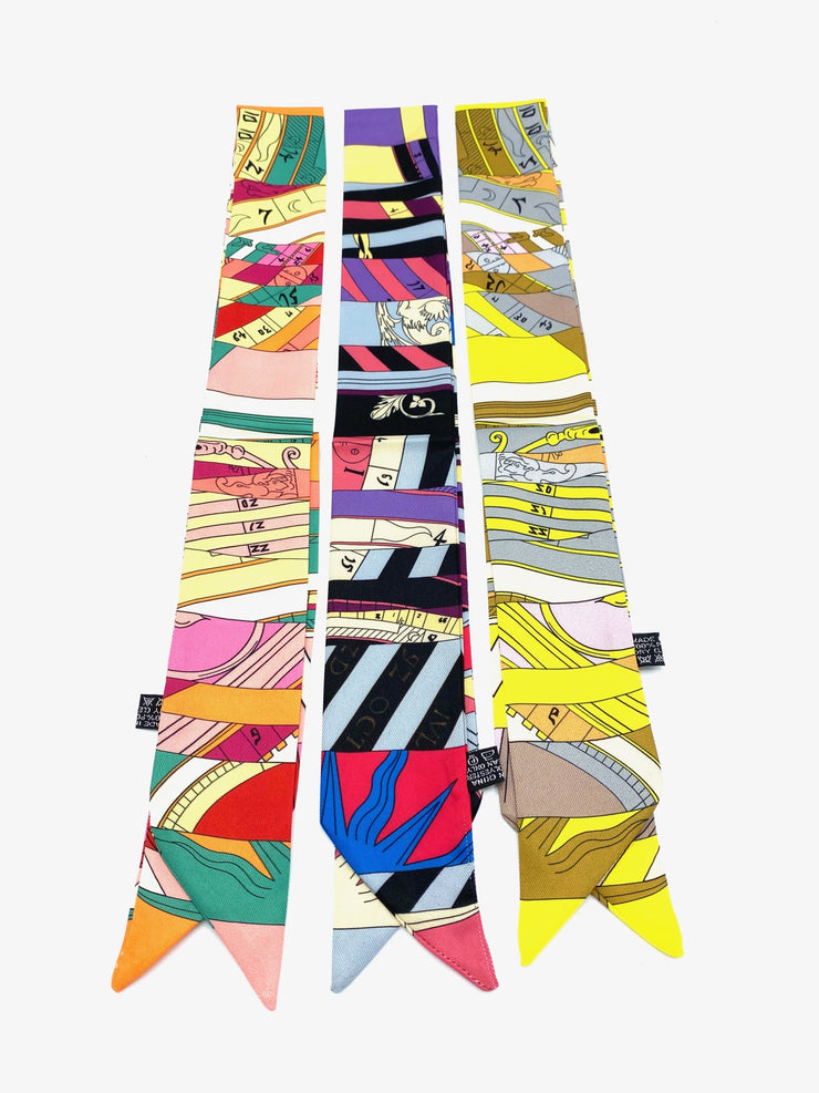 Printed Ribbon Scarf Sundial - RainTree Boutique