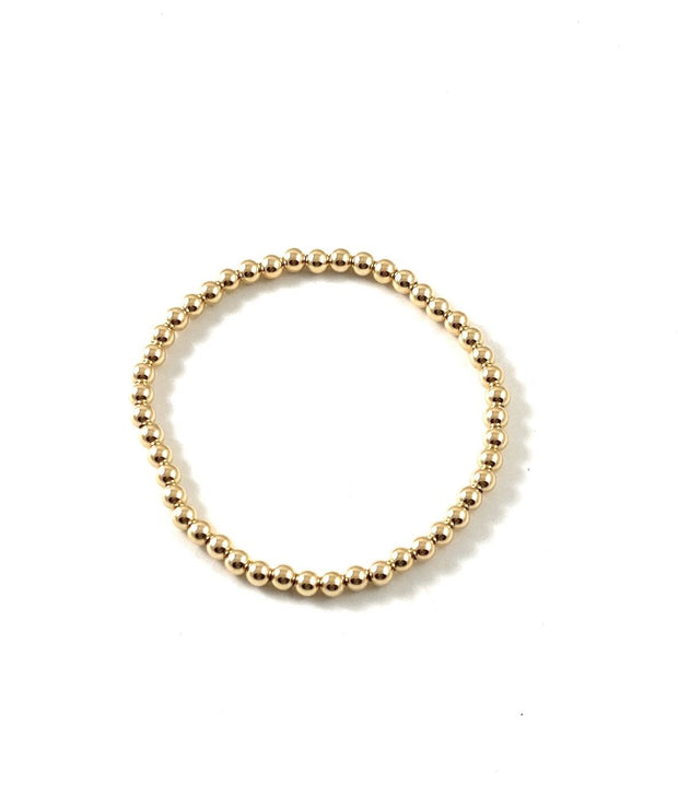 Gold Bead Stretch Bracelet - RainTree Boutique