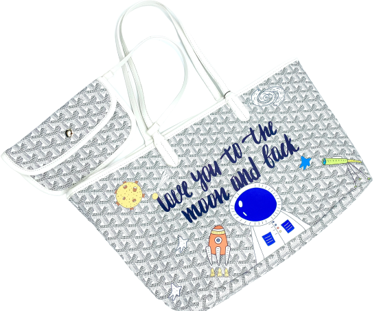 Love You To The Moon And Back Tote