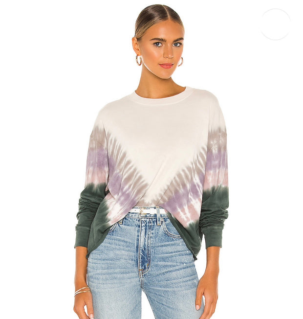 Tie Dye Long Sleeve Crop Tee