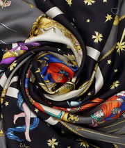 All In The Cards Silk Scarf - RainTree Boutique