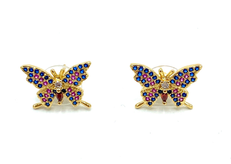 Colorful Butterfly Stud Earrings - RainTree Boutique
