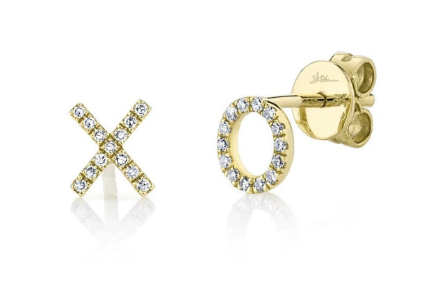"Diamond ""XO"" Stud Earring"