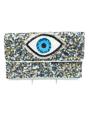 Sequin Evil Eye Clutch - RainTree Boutique