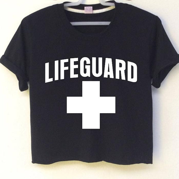 07706984a0492 Crop Top Lifeguard - Black   S - T-Shirts