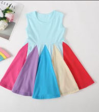 Load image into Gallery viewer, Blue rainbow dress