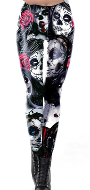 Purple ghoul leggings