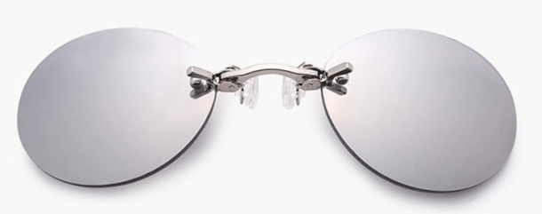 Matrix Style Sunglasses - Silver