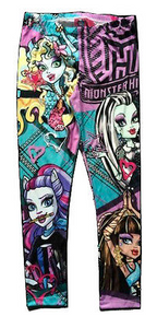 Kids Leggings - Teen Monster Purple