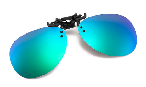 Clip on sunglasses - Oval Blue