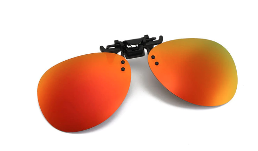 Clip on sunglasses - Oval Orange