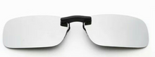 Load image into Gallery viewer, Clip on sunglasses - square blue