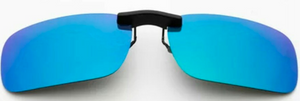 Clip on sunglasses - square blue