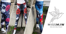Load image into Gallery viewer, Skulls Leggings
