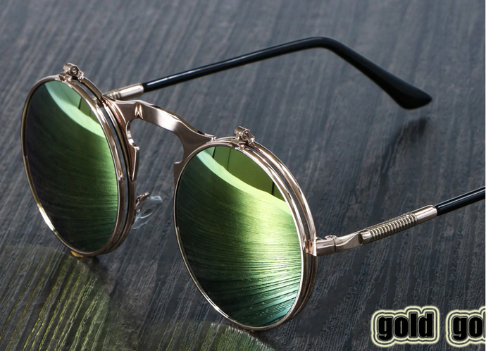 Steam Punk Glasses - Gold