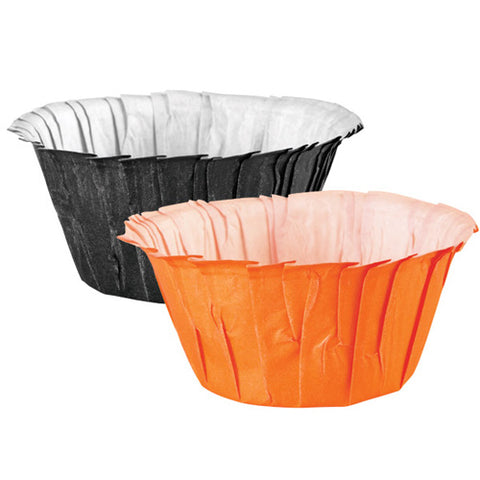Wilton Caissettes Noires et Orange Assorties (x24)