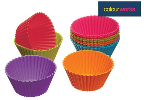 Kitchen Craft Caissettes à cupcakes silicone couleurs flash