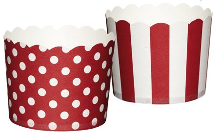 Kitchen Craft Caissettes à cupcakes std rouges x20
