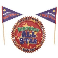 Wilton Caissettes à Cupcakes combo All Star x24