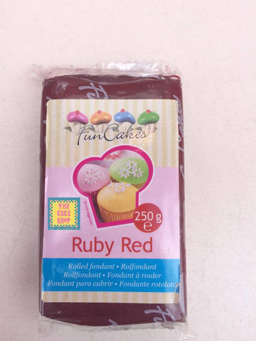 Ruby Red - pâte à sucre