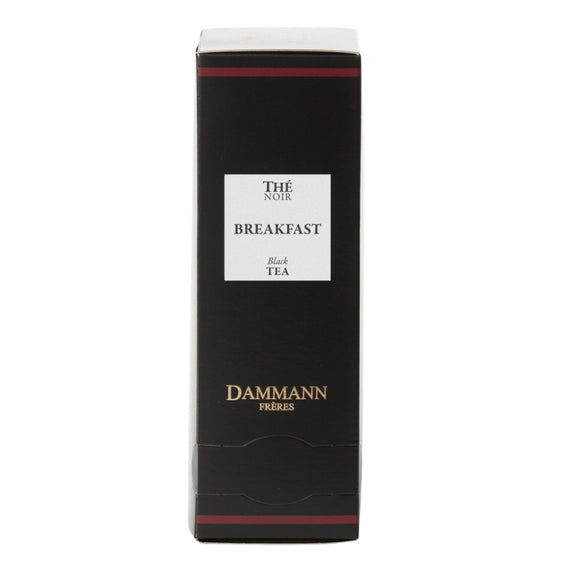 Dammann Frères Strong Breakfast Tea - 24 Individual Cristal® Sachets - Vanilla Chef