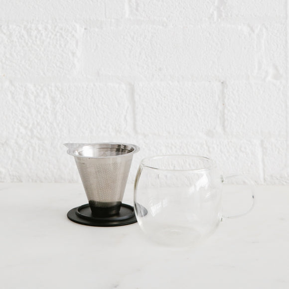 Glass Loose Leaf Infuser Cup