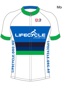 Lifecycle Club Jersey White/Blue