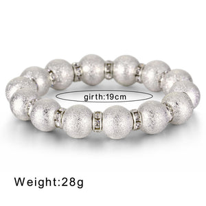 Trendy plated crystals bracelet