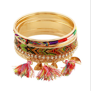 Multicolored ethic tribal bangle.