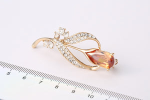 Champagne Flower Brooch