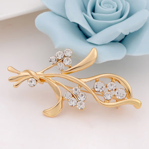 Twirl Flower Brooch