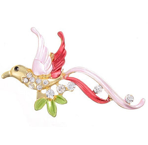Flying bird brooch