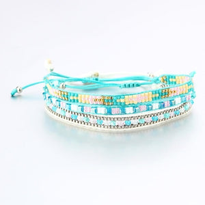 Bohemia Beads Weave Rope Friendship Bracelets